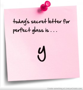 today's secret letter is Y for Bethany Jett's blog