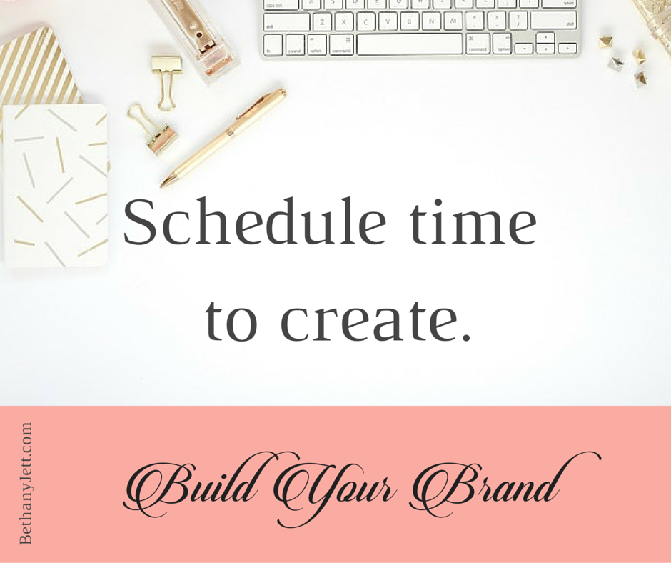 Brand Kit - schedule time to create.