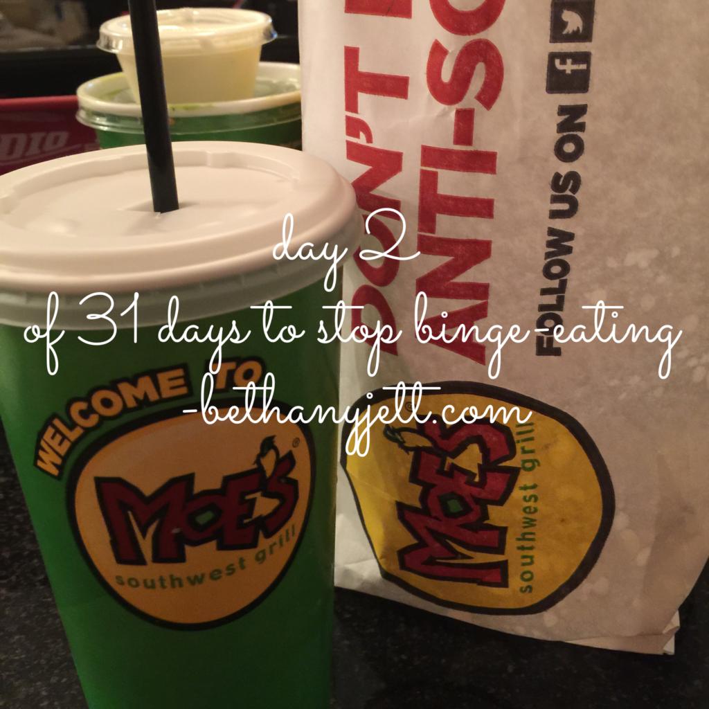 Day 2: Stop Binge-eating BethanyJett.com