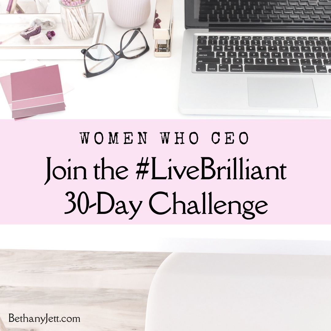 Join the #LiveBrilliant 30-Day Challenge