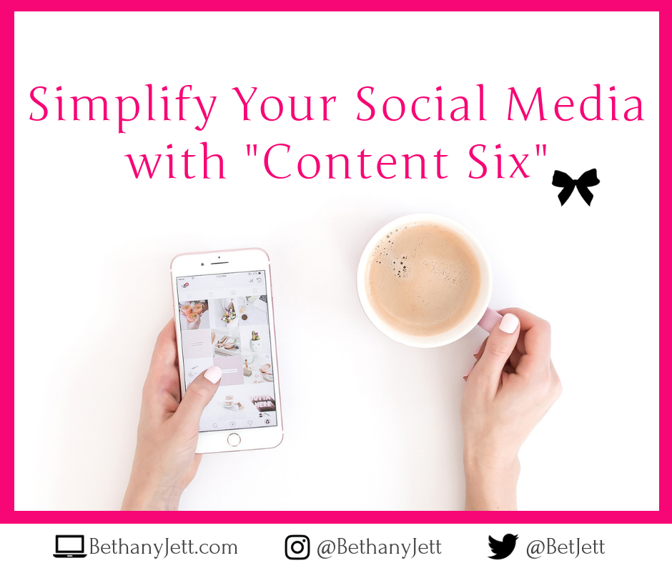 "Simplify Your Social Media with ""Content Six"""
