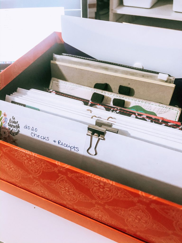 Orange financial file box